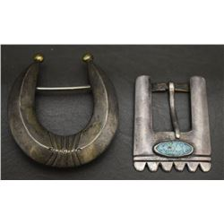 TWO NAVAJO INDIAN BUCKLES