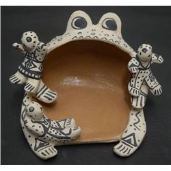 COCHITI INDIAN POTTERY STORY TELLER (SNOWFLAKE FLOWER)