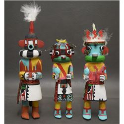 THREE HOPI INDIAN KACHINAS (DAVID)