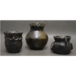 THREE NAVAJO INDIAN POTTERY JARS