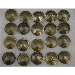 TWENTY INDIAN HEAD BUTTONS