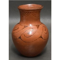 MARICOPA  INDIAN POTTERY VASE (REDBIRD )