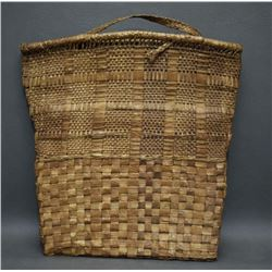 SALISH INDIAN CEDAR BARK FLAT BAG