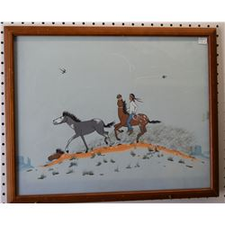 NAVAJO  INDIAN PAINTING (CLAY)