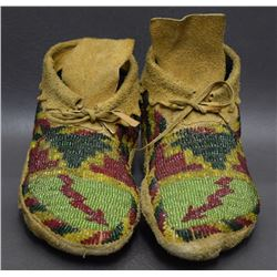 CREE INDIAN BEADED MOCCASINS