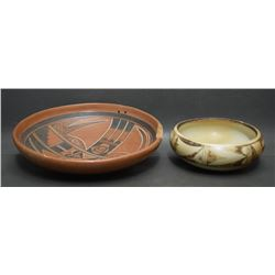 TWO HOPI INDIAN POTTERY BOWLS
