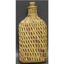 SALISH INDIAN BASKETRY COVERED BOTTLE