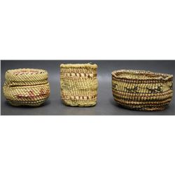 THREE NOOTKA MAKAH INDIAN BASKETS