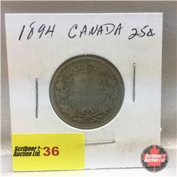 Canada Twenty Five Cent 1894