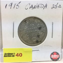 Canada Twenty Five Cent 1915