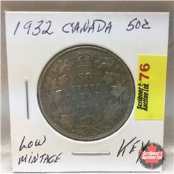 Canada Fifty Cent 1932