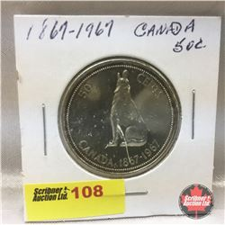 Canada Fifty Cent 1867-1967