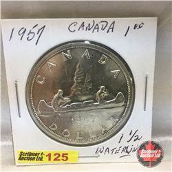 Canada Silver Dollar 1957 (One WL)