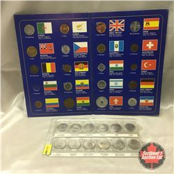 Canada Confederation 125 Years Twenty Five Cent Set of 12 AND Coins of the World (19 Coins)