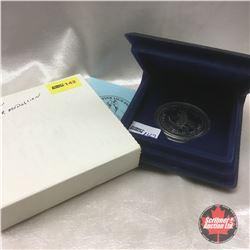 """Fine Silver """"Dewline"""" Medallion - Ever Vigilant Silver Anniversary 1957-1982"""