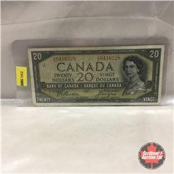 Canada $20 Bill 1954 DF #DE6416528