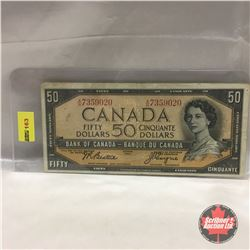 Canada $50 Bill 1954 #AH7359020