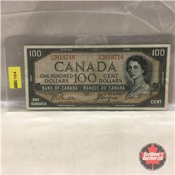 Canada $100 Bill 1954 DF #AJ2019716