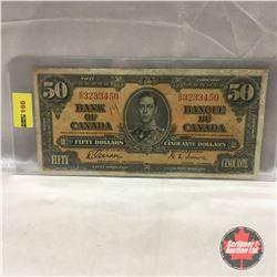 Canada $50 Bill 1937 #BH3233450