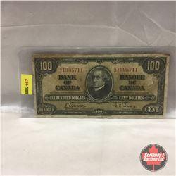 Canada $100 Bill 1937 #BJ1995711