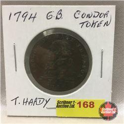 Great Britain Conder Token 1794 T Hardy