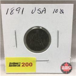 US Ten Cent 1891