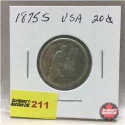US Twenty Cent 1875S