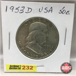 US Fifty Cent 1953D