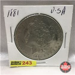 US Morgan Dollar 1881