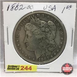 US Morgan Dollar 1882CC