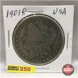 US Morgan Dollar 1901O