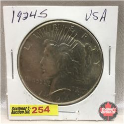 US Peace Dollar 1924S