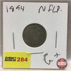NFLD Ten Cent 1894