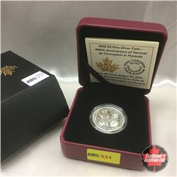 Canada 2015 Fine Silver Coin - 400th Anniversary of Samuel de Champlain in Huronia