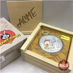 RCM 2015 Looney Tunes : Classic Scenes The Rabbit Of Seville : Elmer Fudd vs Bugs Bunny $30 Fine Sil