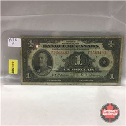 Banque Du Canada $1 Bill 1935 #F2563493