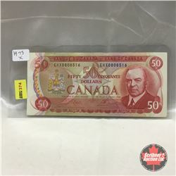 Canada $50 Bill 1975 (Replacement) #EHX0808516