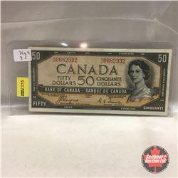 Canada $50 Bill 1954 DF #AH0682332