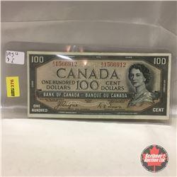 Canada $100 Bill 1954 DF #AJ1566912