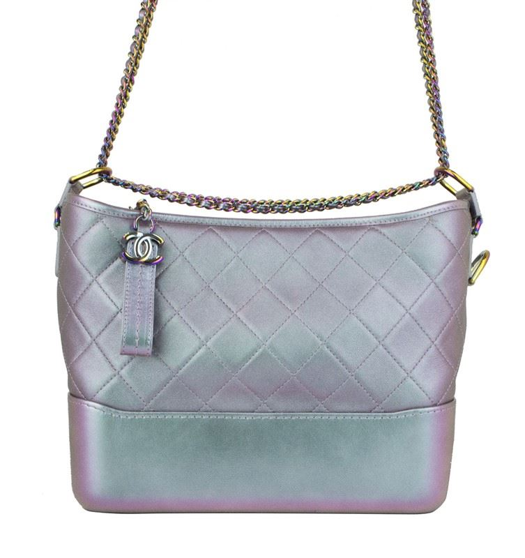 4149c0695af74c Image 1 : CHANEL Iridescent Lambskin Calfskin Quilted Medium Gabrielle Hobo  Light Purple ...