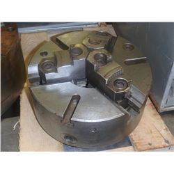 "NO MFG- 10"" 3 JAW SELF CENTERING MANUAL CHUCK - NO TAG"