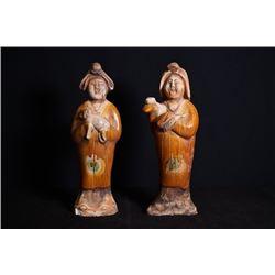 Sancai pottery figurine