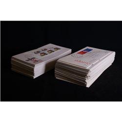A set of envelopes in 1980 - 2000.