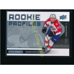 13-14 UD Overtime Rookie Profile Quinton Howden