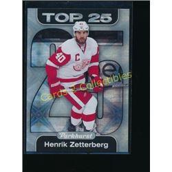 16-17 Parkhurst Top 25 #TOP2 Henrik Zetterberg