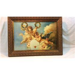 Framed Oil On Canvas  45x32