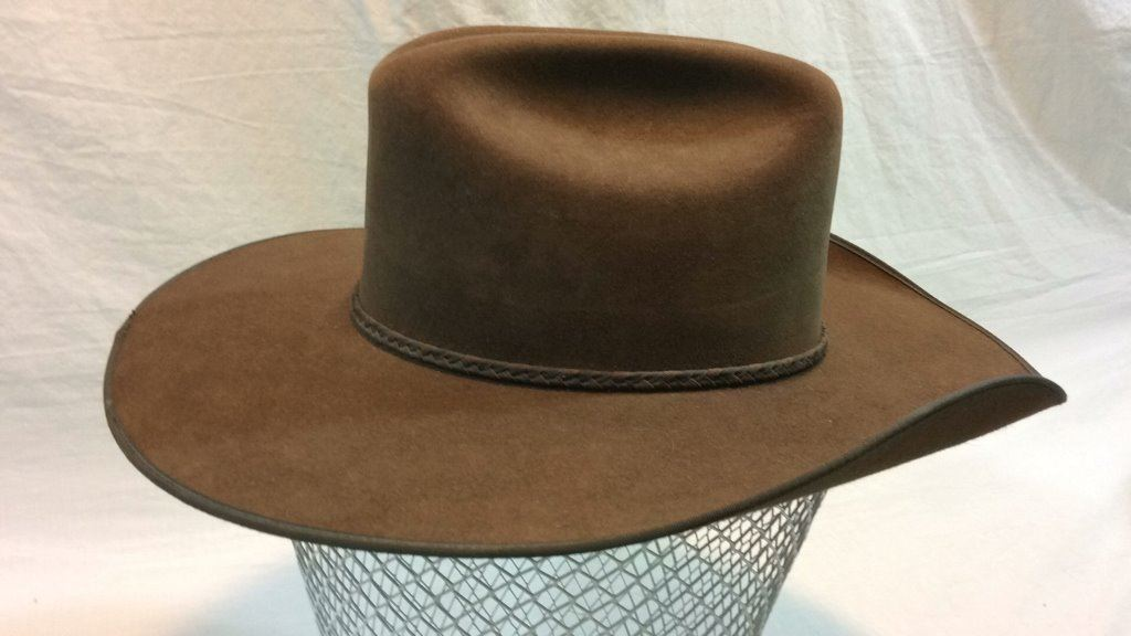 5dbc0aa0c6a4a ... Image 3   Size 7 1 8 Resistol Self-conforming 4x Beaver Hat ...