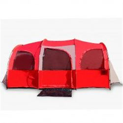 10 Person Tent For Camping in Red or Blue