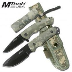 3 Piece Camo Knife and Flashlight Set with Free Shipping
