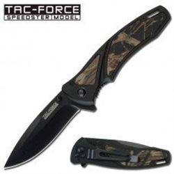 Action Assisted Folding Camo Pocket Knife For Hunting : Free Shipping
